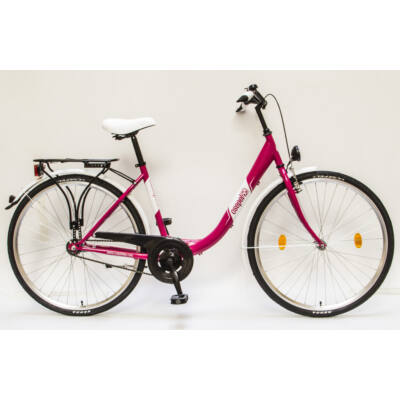 """Csepel Budapest B 28"""" felnőtt kerékpár - Rózsaszín"""
