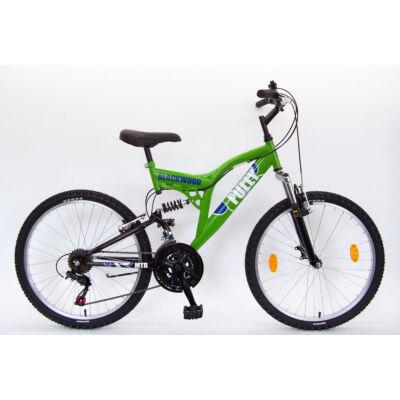 """Csepel Blackwood Fully 24"""" kerékpár - Zöld/Fekete"""