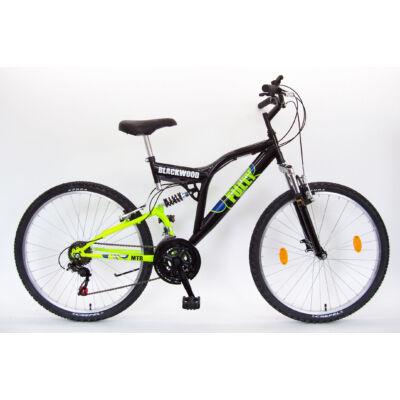 """Csepel Blackwood Fully 26"""" kerékpár - Fekete/Zöld"""