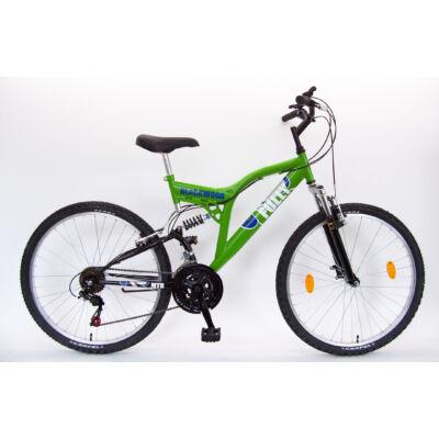 """Csepel Blackwood Fully 26"""" kerékpár - Zöld/Fekete"""