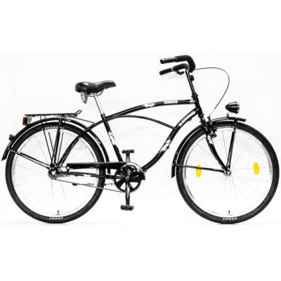 Csepel Blackwood Cruiser férfi kerékpár - Fekete