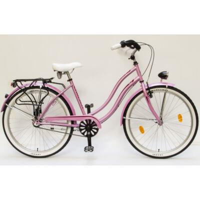 Csepel Cruiser kerékpár, 3 seb. agyváltó - Pink