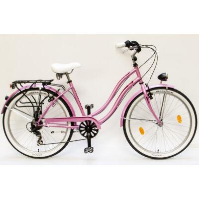 Csepel Cruiser kerékpár, 7 sebesség - Pink