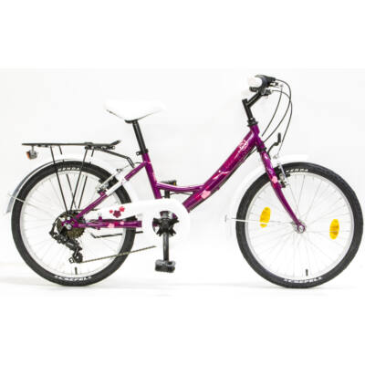 """Csepel Flora 20"""" gyermek kerékpár - Ciklámen"""