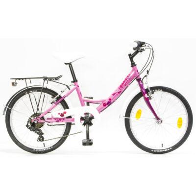 """Csepel Flora 20"""" gyermek kerékpár - Rózsa - Ciklámen"""
