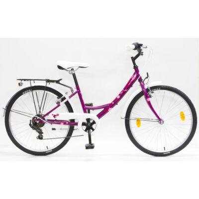 """Csepel Flora 24"""" gyermek kerékpár - Ciklámen"""