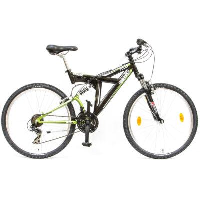 """Csepel Ranger Fully 26"""" kerékpár - Fekete/Zöld"""