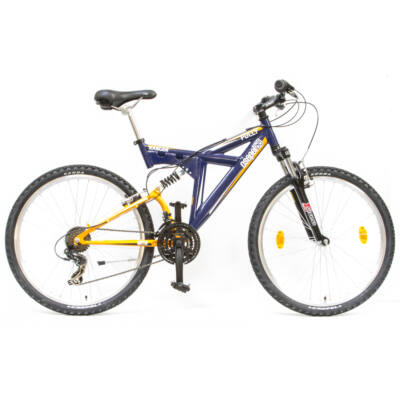 """Csepel Ranger Fully 26"""" kerékpár - Kék/Narancs"""