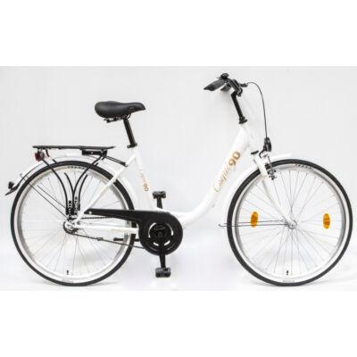 """Csepel Budapest B 26"""" felnőtt kerékpár - Fehér limitált 90'elnőtt kerékpár - Fehér"""