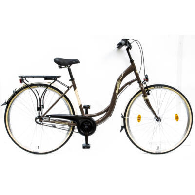 Csepel Velence kerékpár, 3 seb. agyváltó - Barna