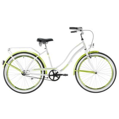 Kenzel Cruiser kerékpár - Atlantis Fehér - lemon fluo
