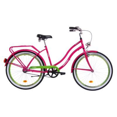Kenzel Cruiser kerékpár - Pink/ Lemon Fluo