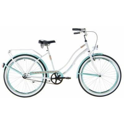 Kenzel Cruiser kerékpár - Atlantis Fehér-türkiz