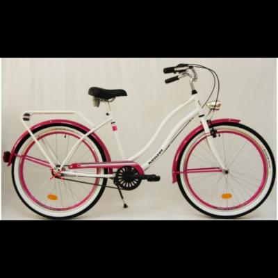 Kenzel Cruiser kerékpár - Atlantis Fehér-pink