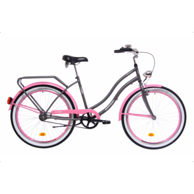 Kenzel Cruiser kerékpár - Atlantis Matt szürke - Rózsaszín