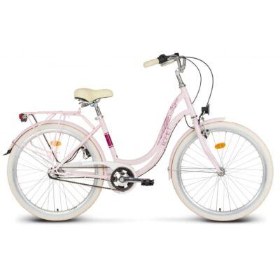 """Romet Angel 26"""" kerékpár - Rózsaszín"""