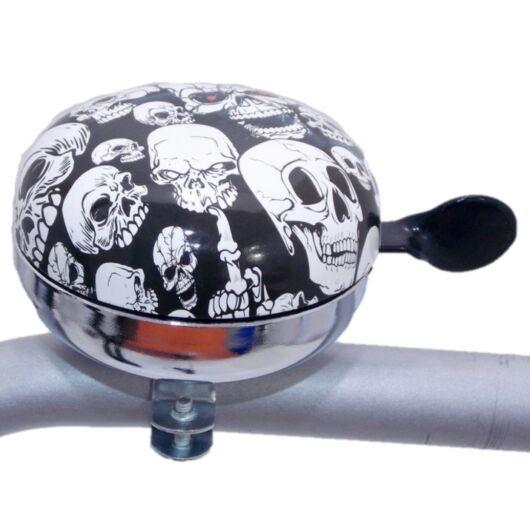 Kerékpár csengő 80 mm -  koponyás