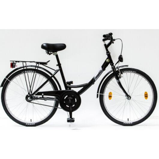 """Csepel Budapest 24"""" Gyermek kerékpár - Fekete"""
