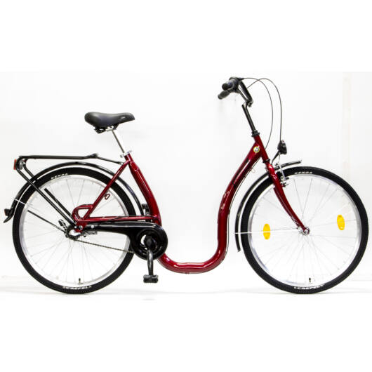 """Csepel Budapest 26"""" C felnőtt kerékpár, 3 seb. agyváltó - Piros"""