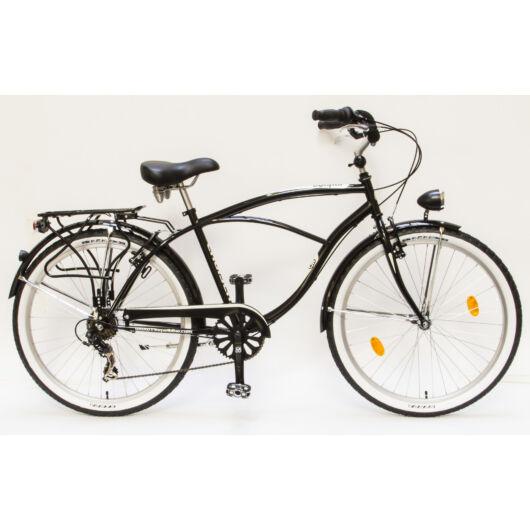 Csepel Cruiser férfi kerékpár, 7 sebesség - Fekete