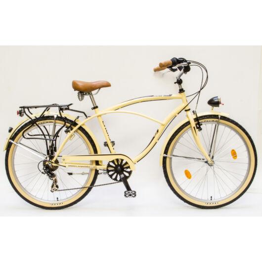 Csepel Cruiser férfi kerékpár, 7 sebesség - Krém