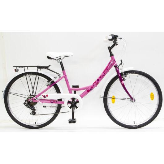 """Csepel Flora 24"""" gyermek kerékpár - Rózsa - Ciklámen"""