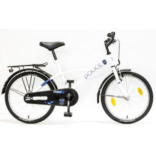 """Csepel Police 20"""" gyermek kerékpár - Fehér"""