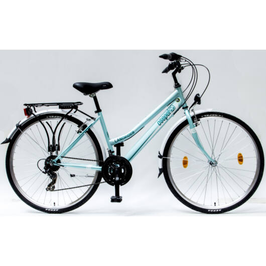 """Csepel Landrider 28"""" kerékpár - Zöldes Kék"""