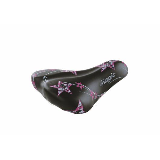 Kerékpár gyermek nyereg - fekete/rózsaszín